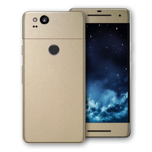 Google Pixel 2 Champagne Gold Glossy Metallic Skin, Decal, Wrap, Protector, Cover by EasySkinz | EasySkinz.com