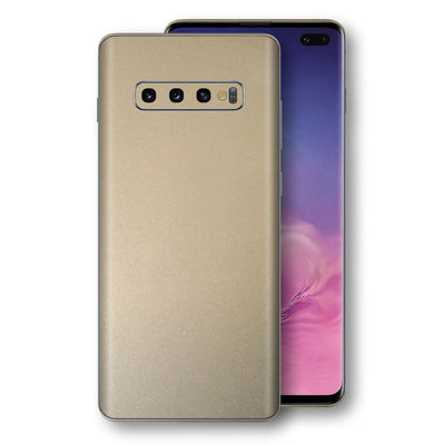 Samsung Galaxy S10+ PLUS Champagne Gold Glossy Metallic Skin, Decal, Wrap, Protector, Cover by EasySkinz | EasySkinz.com