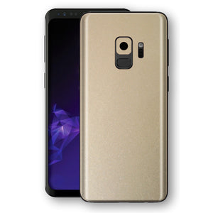 Samsung GALAXY S9 Champagne Gold Glossy Metallic Skin, Decal, Wrap, Protector, Cover by EasySkinz | EasySkinz.com