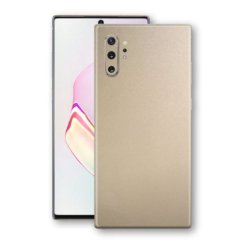 Samsung Galaxy NOTE 10+ PLUS Champagne Gold Glossy Metallic Skin, Decal, Wrap, Protector, Cover by EasySkinz | EasySkinz.com
