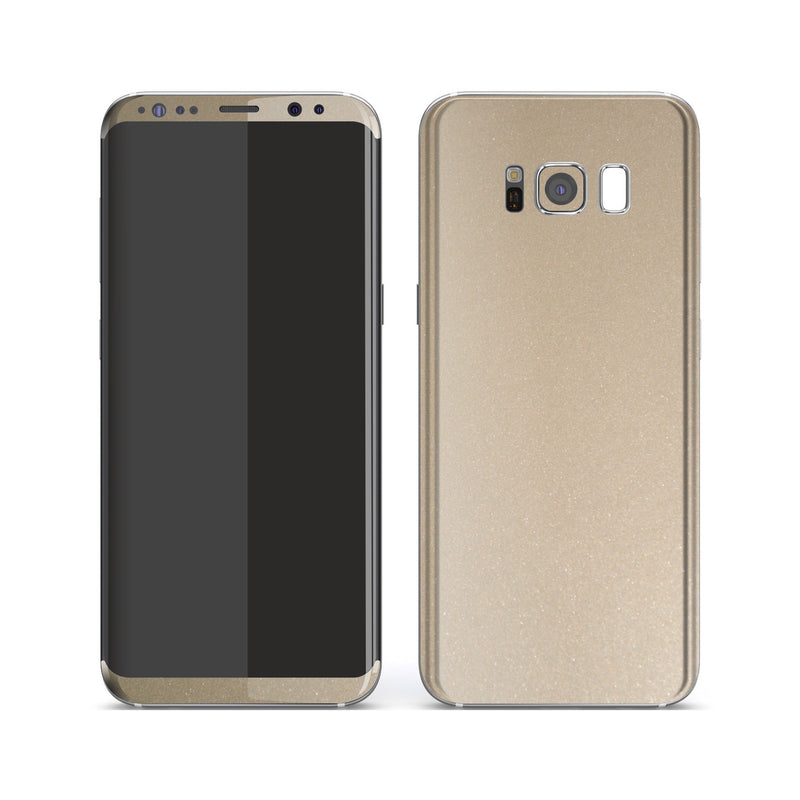 Samsung Galaxy S8+ Champagne Gold Glossy Metallic Skin, Decal, Wrap, Protector, Cover by EasySkinz | EasySkinz.com