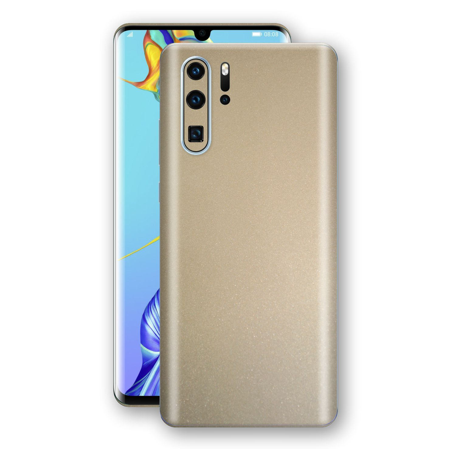 Huawei P30 PRO Champagne Gold Glossy Metallic Skin, Decal, Wrap, Protector, Cover by EasySkinz | EasySkinz.com