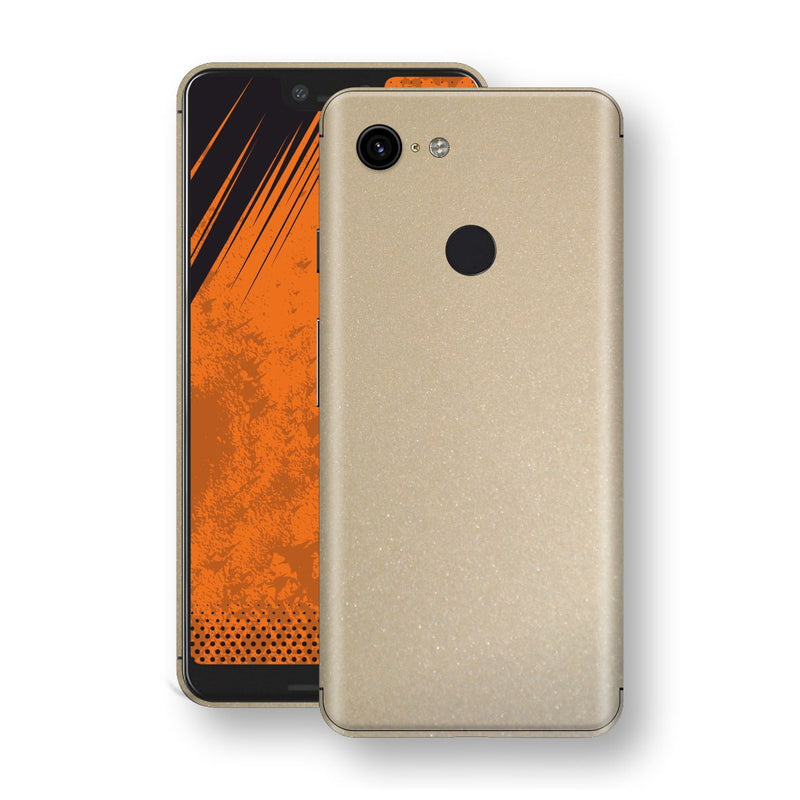Google Pixel 3 XL Champagne Gold Glossy Metallic Skin, Decal, Wrap, Protector, Cover by EasySkinz | EasySkinz.com