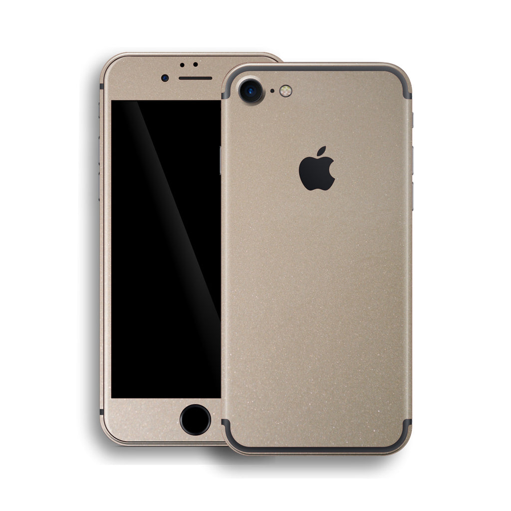iPhone 7 Glossy Champagne Gold Metallic Skin, Wrap, Decal, Protector, Cover by EasySkinz | EasySkinz.com