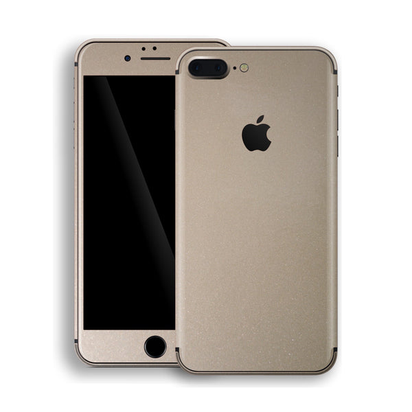 iPhone 8 Plus Champagne Gold Glossy Metallic Skin, Decal, Wrap, Protector, Cover by EasySkinz | EasySkinz.com