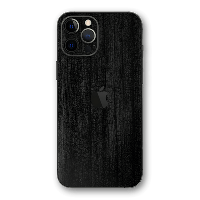 iPhone 12 Pro MAX Black CHARCOAL 3D Textured Skin Wrap Sticker Decal Cover Protector by EasySkinz