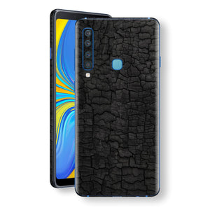 Samsung Galaxy A9 (2018) Print Custom Signature Burnt Wood Black Charcoal Abstract Skin Wrap Decal by EasySkinz