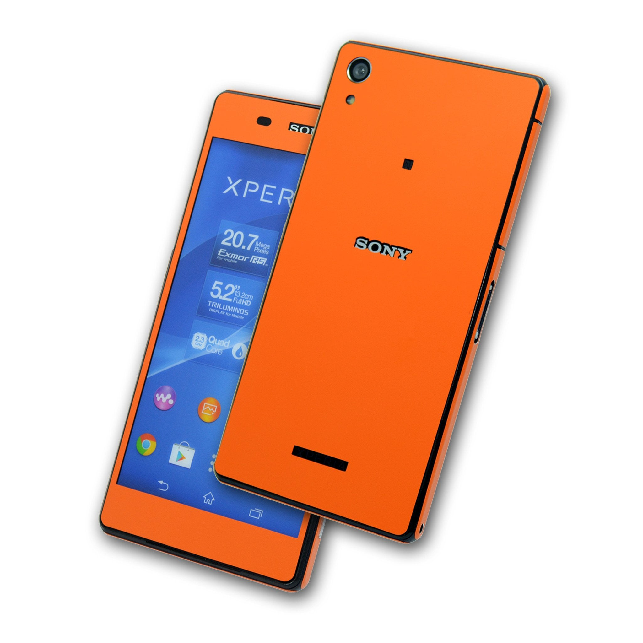 Sony Xperia Z2 Orange Matt Skin