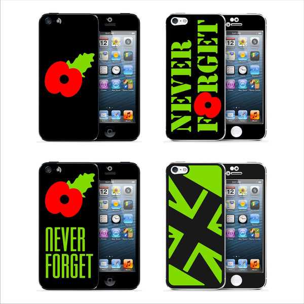 POPPY Never Forget MATT Finish Skin for iPhone 5S 5 4 4S