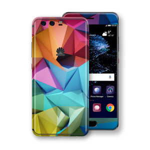 Huawei P10+ PLUS Signature Abstract Geometry Skin Wrap Decal Protector | EasySkinz