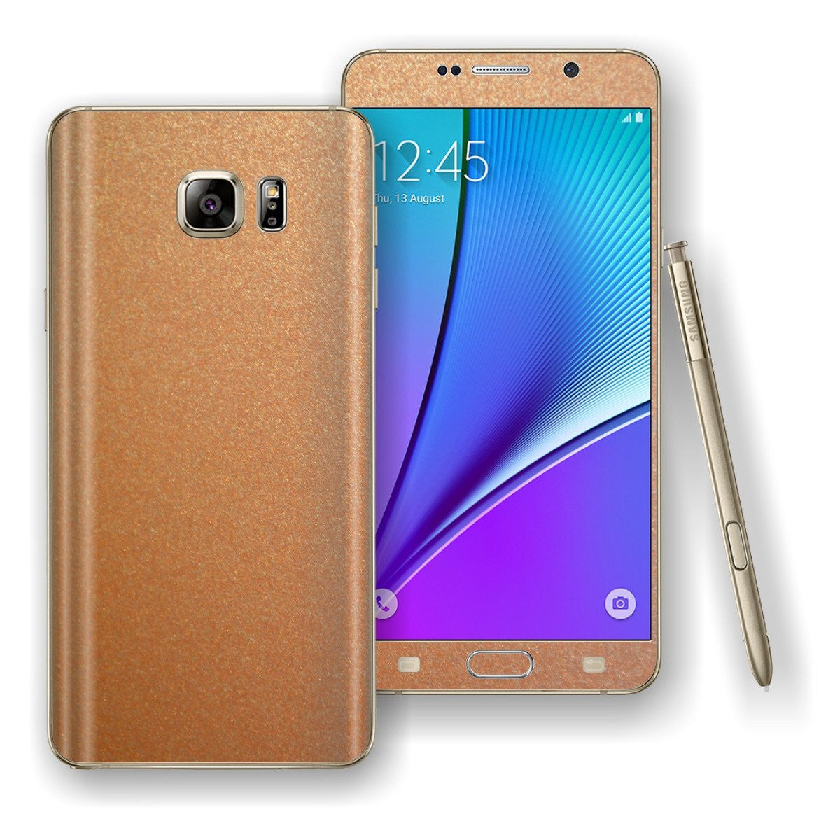 Samsung Galaxy NOTE 5 3M Copper Matt Metallic Skin Wrap Decal Cover Protector by EasySkinz