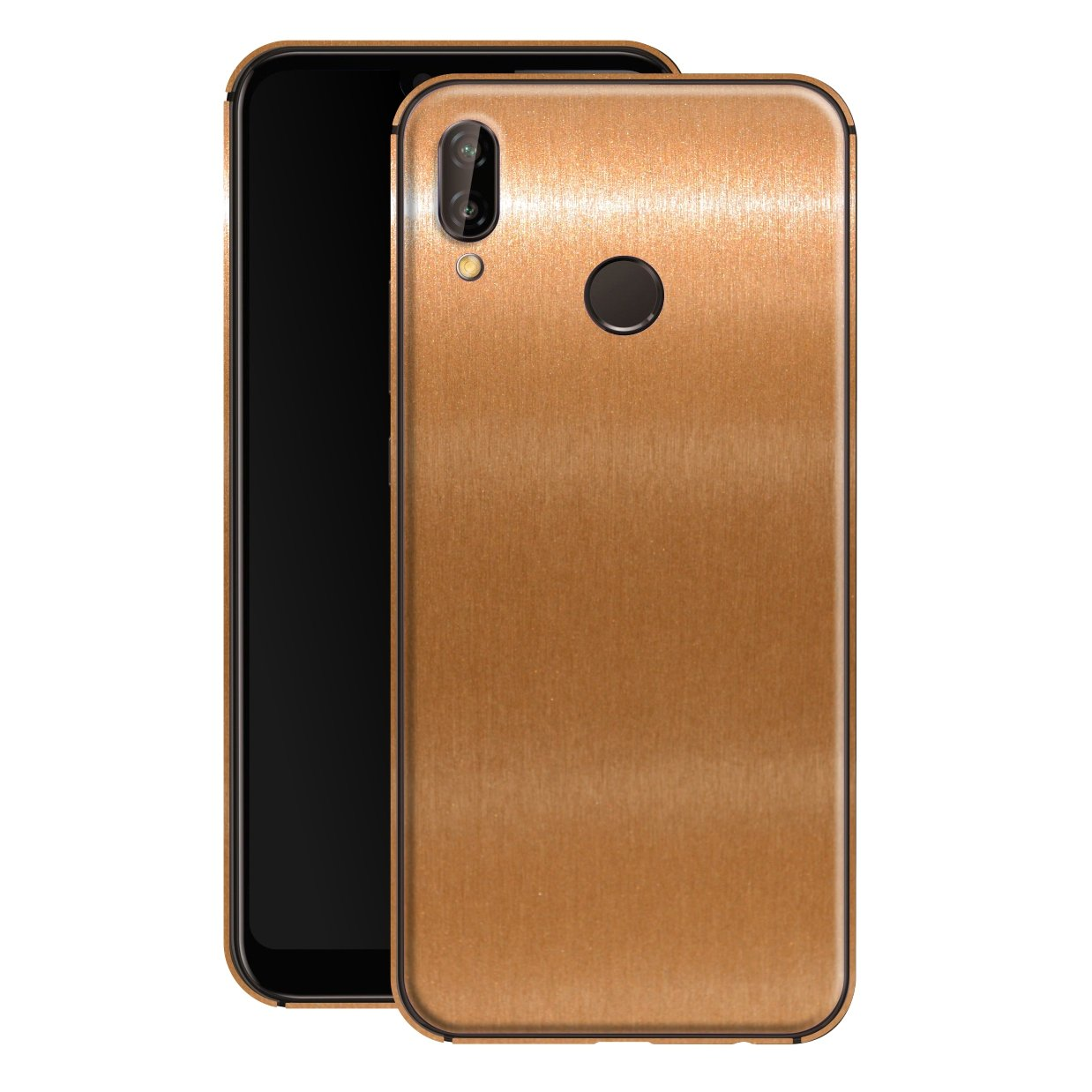 Huawei P20 LITE Brushed Copper Metallic Metal Skin, Decal, Wrap, Protector, Cover by EasySkinz | EasySkinz.com