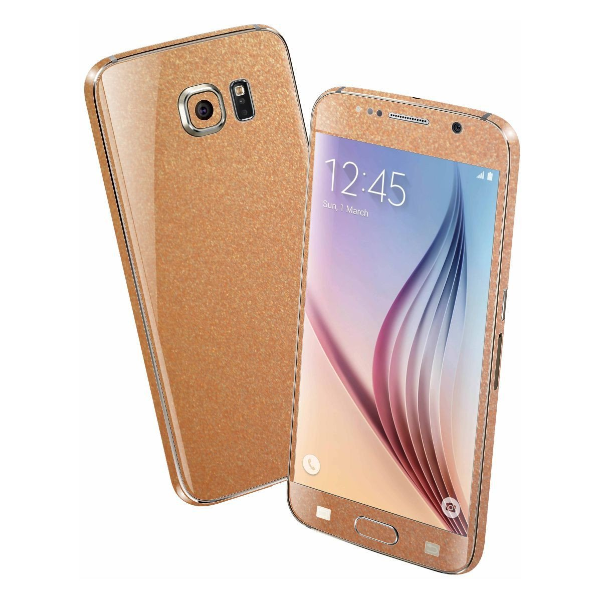 Samsung Galaxy S6 3M Copper Matt Matte Metallic Skin Wrap Sticker Cover Protector Decal by EasySkinz