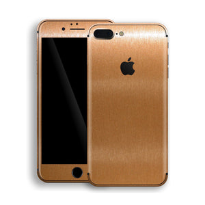 iPhone 8 Plus Brushed Copper Metallic Skin, Decal, Wrap, Protector, Cover by EasySkinz | EasySkinz.com