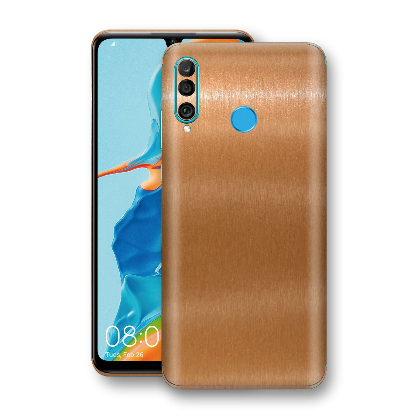 Huawei P30 LITE Brushed Copper Metallic Metal Skin, Decal, Wrap, Protector, Cover by EasySkinz | EasySkinz.com