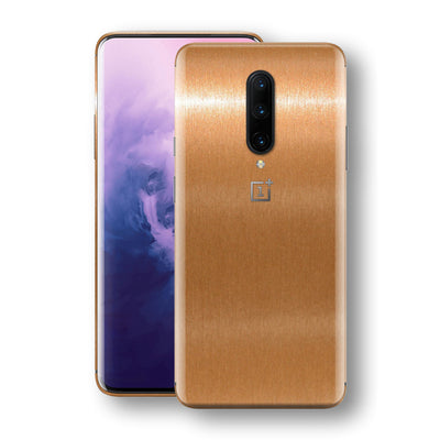 OnePlus 7 PRO Brushed Copper Metallic Metal Skin, Decal, Wrap, Protector, Cover by EasySkinz | EasySkinz.com