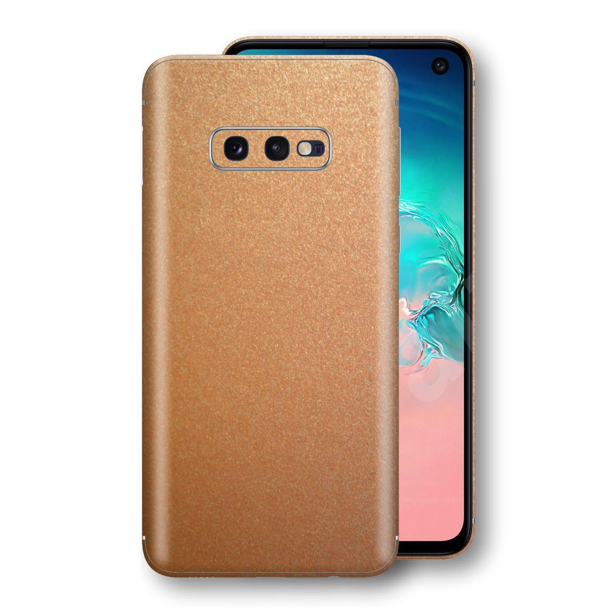 Samsung Galaxy S10e Copper Matt Metallic Skin, Decal, Wrap, Protector, Cover by EasySkinz | EasySkinz.com