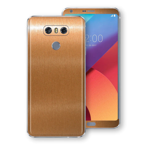 LG G6 Brushed Copper Metallic Metal Skin, Decal, Wrap, Protector, Cover by EasySkinz | EasySkinz.com