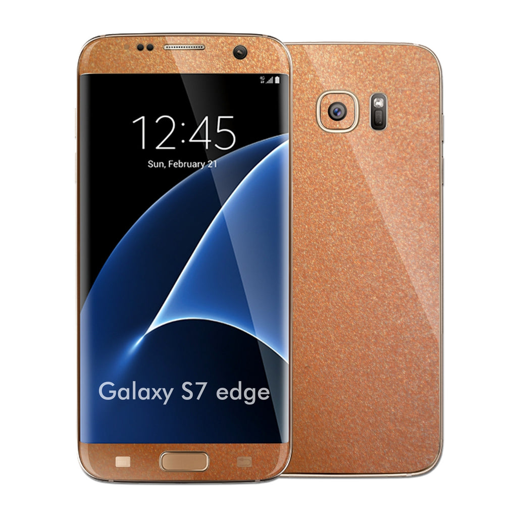 Samsung Galaxy S7 EDGE 3M Copper Matt Metallic Skin Wrap Decal Sticker Cover Protector by EasySkinz