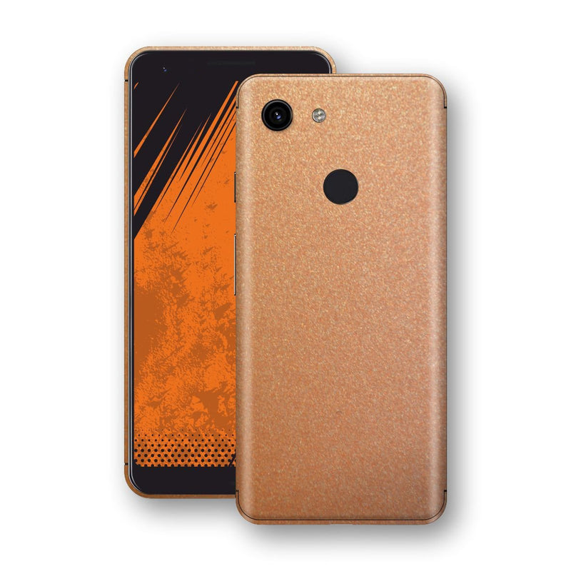 Google Pixel 3a XL Copper Matt Metallic Skin, Decal, Wrap, Protector, Cover by EasySkinz | EasySkinz.com