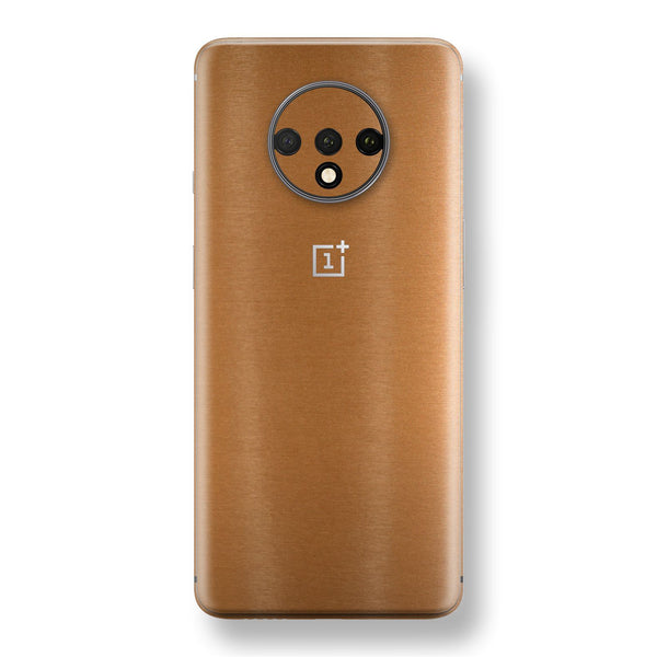 OnePlus 7T Brushed Copper Metallic Metal Skin, Decal, Wrap, Protector, Cover by EasySkinz | EasySkinz.com