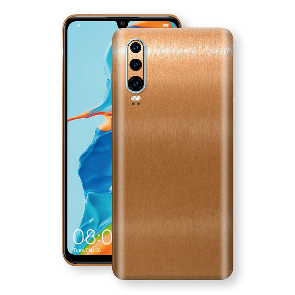 Huawei P30 Brushed Copper Metallic Metal Skin, Decal, Wrap, Protector, Cover by EasySkinz | EasySkinz.com