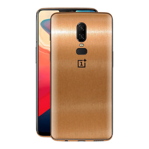 OnePlus 6 Brushed Copper Metallic Metal Skin, Decal, Wrap, Protector, Cover by EasySkinz | EasySkinz.com