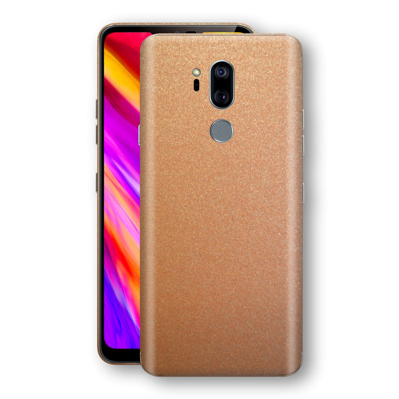 LG G7 ThinQ Copper Matt Metallic Skin, Decal, Wrap, Protector, Cover by EasySkinz | EasySkinz.com