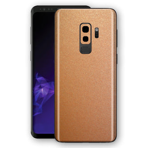 Samsung GALAXY S9+ PLUS Copper Matt Metallic Skin, Decal, Wrap, Protector, Cover by EasySkinz | EasySkinz.com