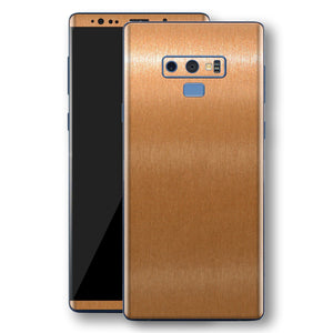 Samsung Galaxy NOTE 9 Brushed Copper Metallic Metal Skin, Decal, Wrap, Protector, Cover by EasySkinz | EasySkinz.com
