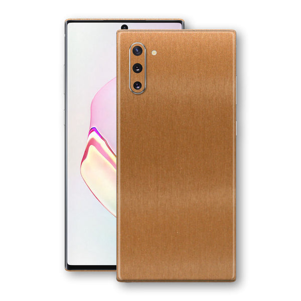 Samsung Galaxy NOTE 10 Brushed Copper Metallic Metal Skin, Decal, Wrap, Protector, Cover by EasySkinz | EasySkinz.com