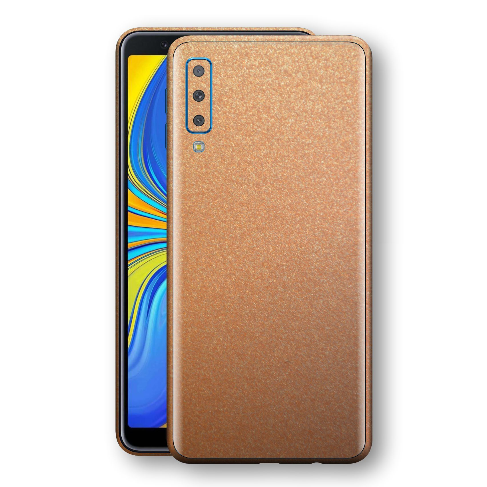 Samsung Galaxy A7 (2018) Copper Matt Metallic Skin, Decal, Wrap, Protector, Cover by EasySkinz | EasySkinz.com