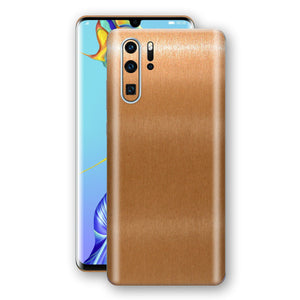 Huawei P30 PRO Brushed Copper Metallic Metal Skin, Decal, Wrap, Protector, Cover by EasySkinz | EasySkinz.com