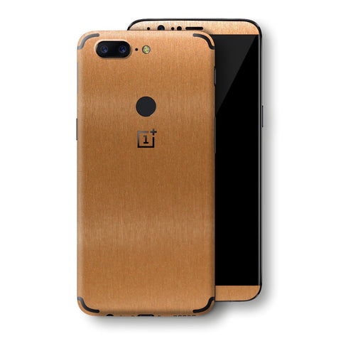 OnePlus 5T Brushed Copper Metallic Metal Skin, Decal, Wrap, Protector, Cover by EasySkinz | EasySkinz.com