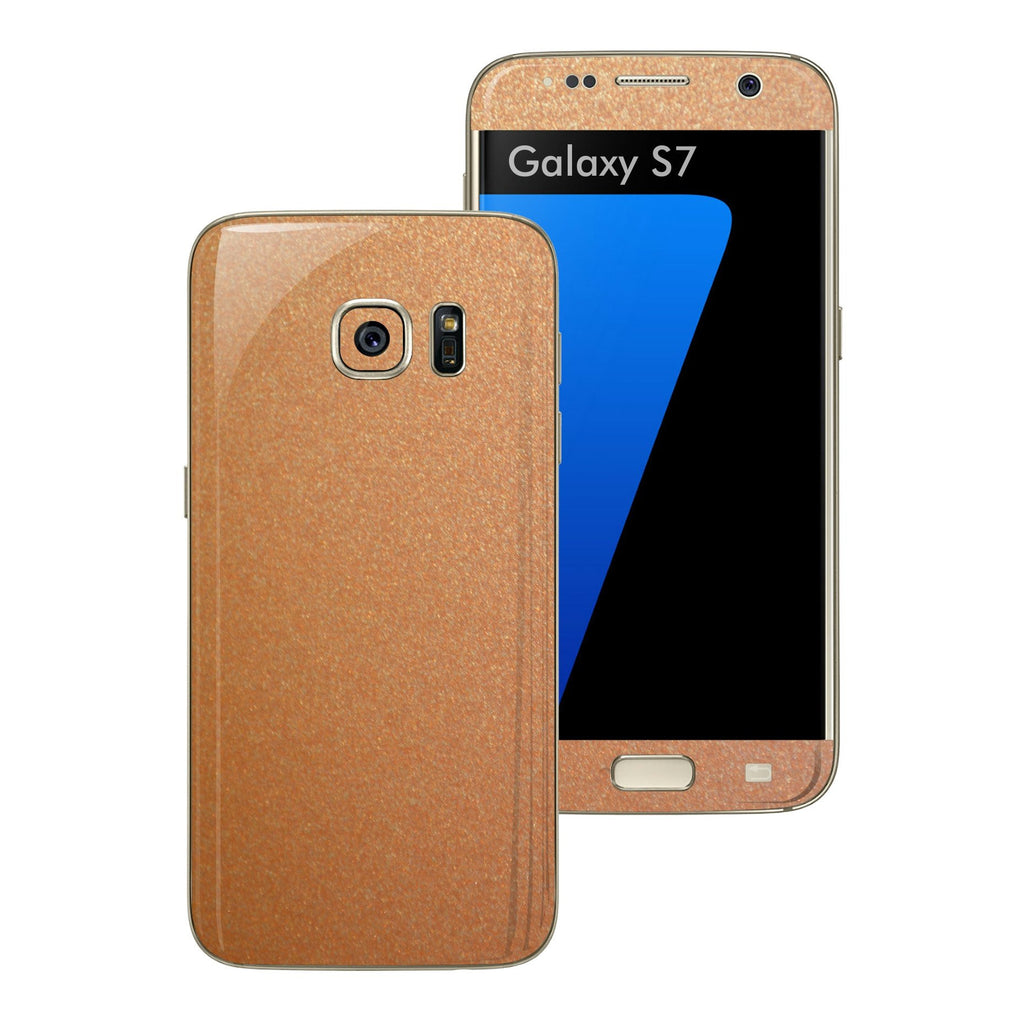 Samsung Galaxy S7 3M Copper Matt Metallic Skin Wrap Decal Sticker Cover Protector by EasySkinz