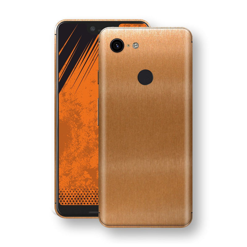 Google Pixel 3 XL Brushed Copper Metallic Metal Skin, Decal, Wrap, Protector, Cover by EasySkinz | EasySkinz.com