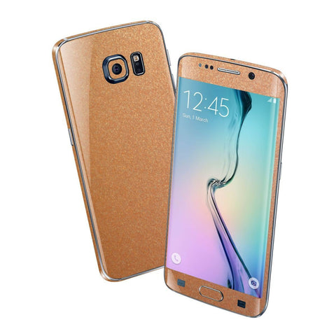 Samsung Galaxy S6 EDGE 3M Copper Matt Matte Metallic Skin Wrap Sticker Cover Protector Decal by EasySkinz
