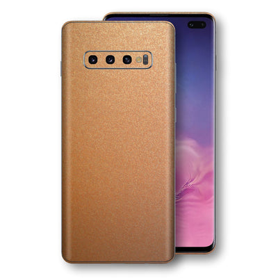 Samsung Galaxy S10+ PLUS Copper Matt Metallic Skin, Decal, Wrap, Protector, Cover by EasySkinz | EasySkinz.com