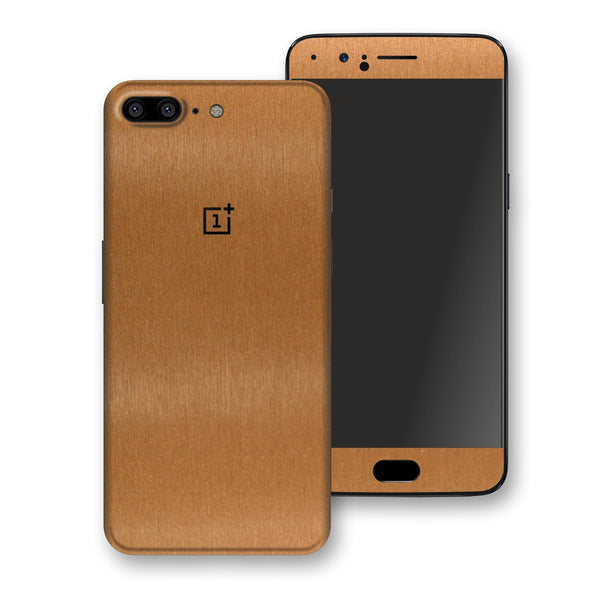 OnePlus 5 Brushed Copper Metallic Metal Skin, Decal, Wrap, Protector, Cover by EasySkinz | EasySkinz.com