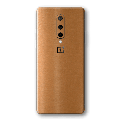 OnePlus 8 Brushed Copper Metallic Metal Skin Wrap Sticker Decal Cover Protector by EasySkinz