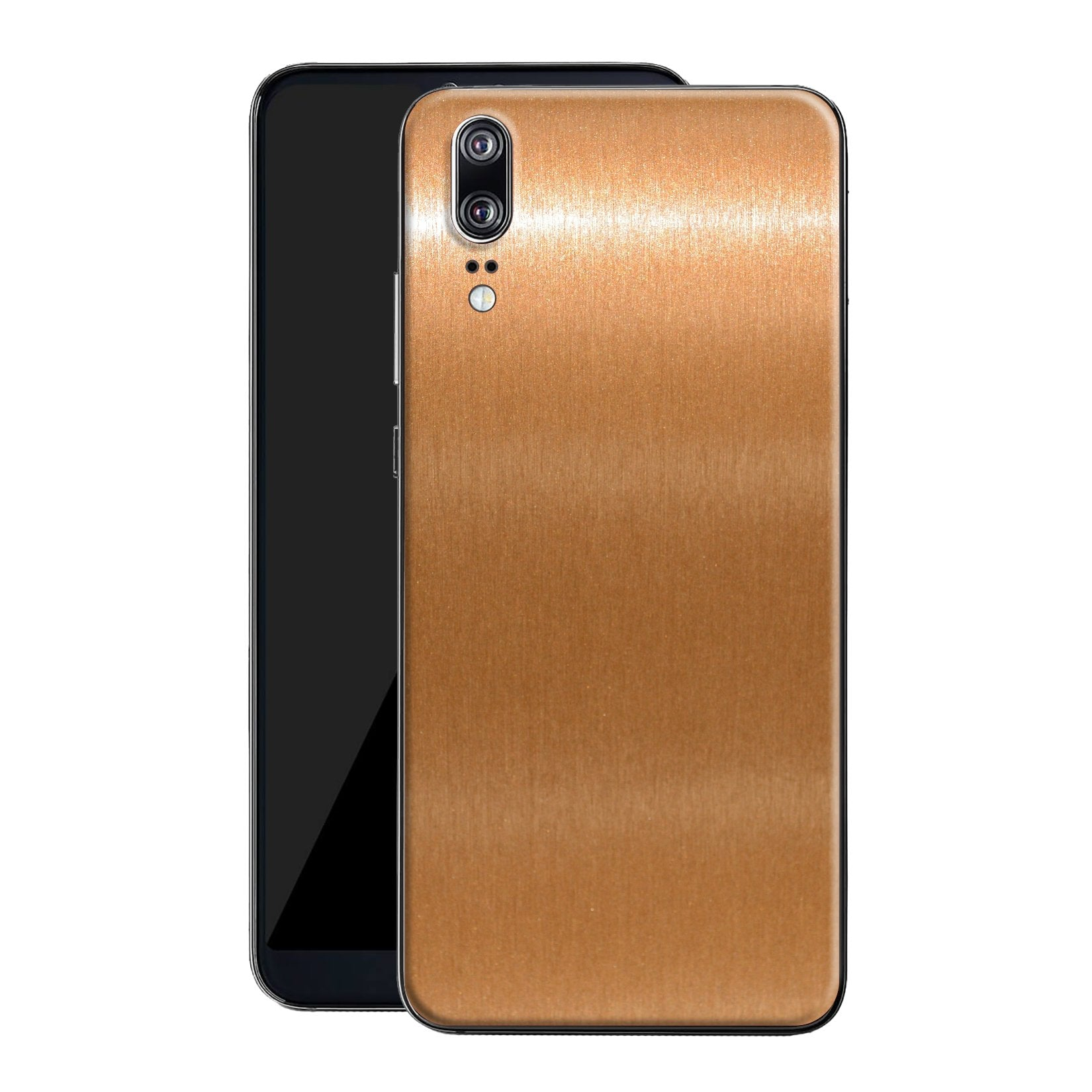 Huawei P20 Brushed Copper Metallic Metal Skin, Decal, Wrap, Protector, Cover by EasySkinz | EasySkinz.com