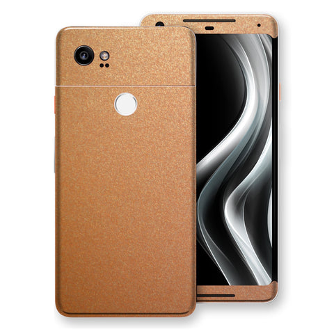 Google Pixel 2 XL Copper Matt Metallic Skin, Decal, Wrap, Protector, Cover by EasySkinz | EasySkinz.com