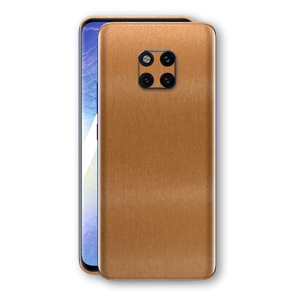 Huawei MATE 20 PRO Brushed Copper Metallic Metal Skin, Decal, Wrap, Protector, Cover by EasySkinz | EasySkinz.com