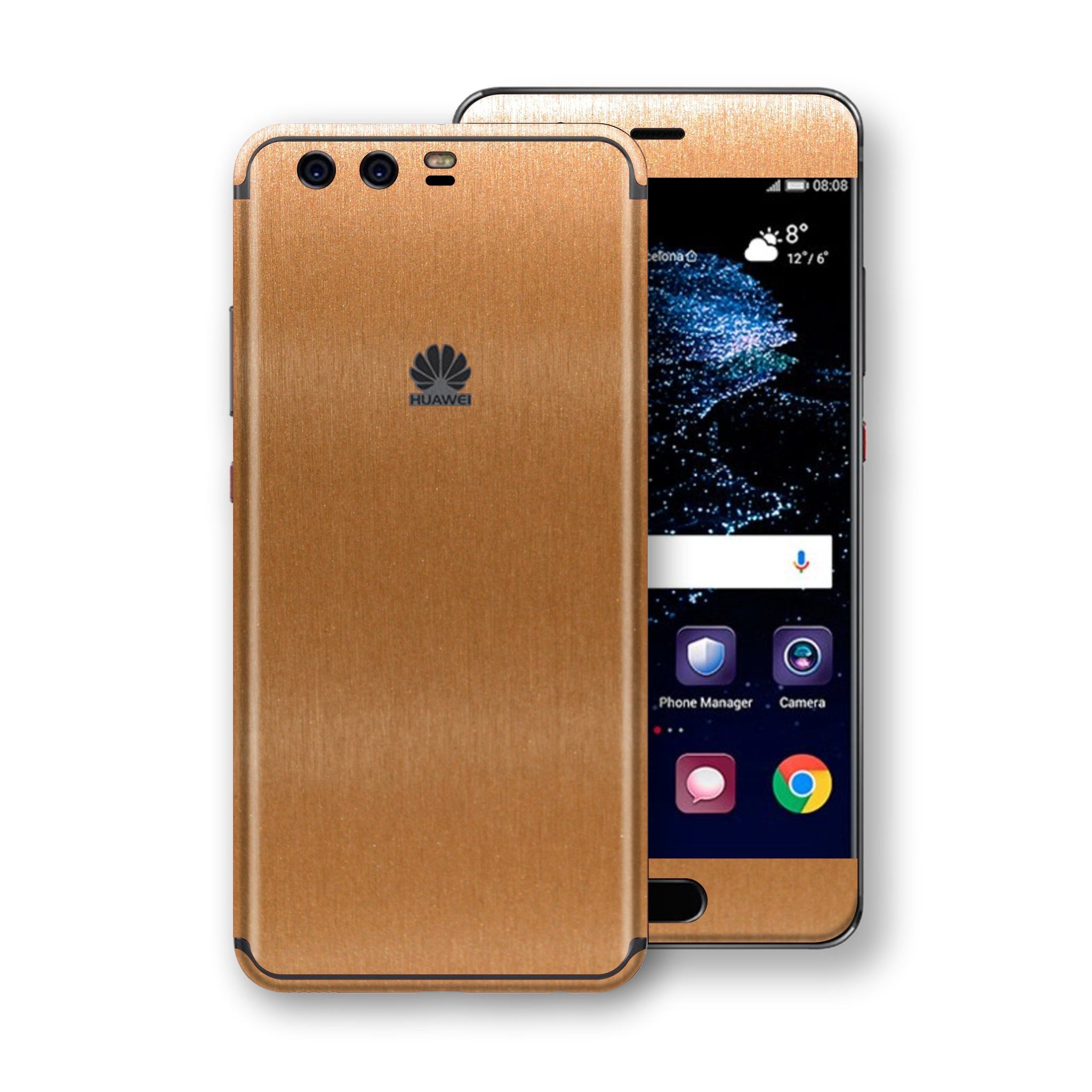 Huawei P10+ PLUS Brushed Copper Metallic Metal Skin, Decal, Wrap, Protector, Cover by EasySkinz | EasySkinz.com