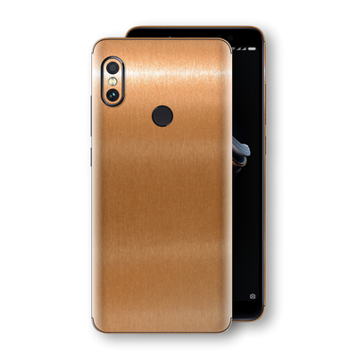 XIAOMI Redmi NOTE 5 Brushed Copper Metallic Metal Skin, Decal, Wrap, Protector, Cover by EasySkinz | EasySkinz.com