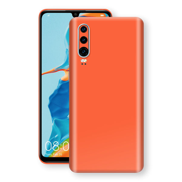 Huawei P30 Glossy CORAL Skin, Decal, Wrap, Protector, Cover by EasySkinz | EasySkinz.com