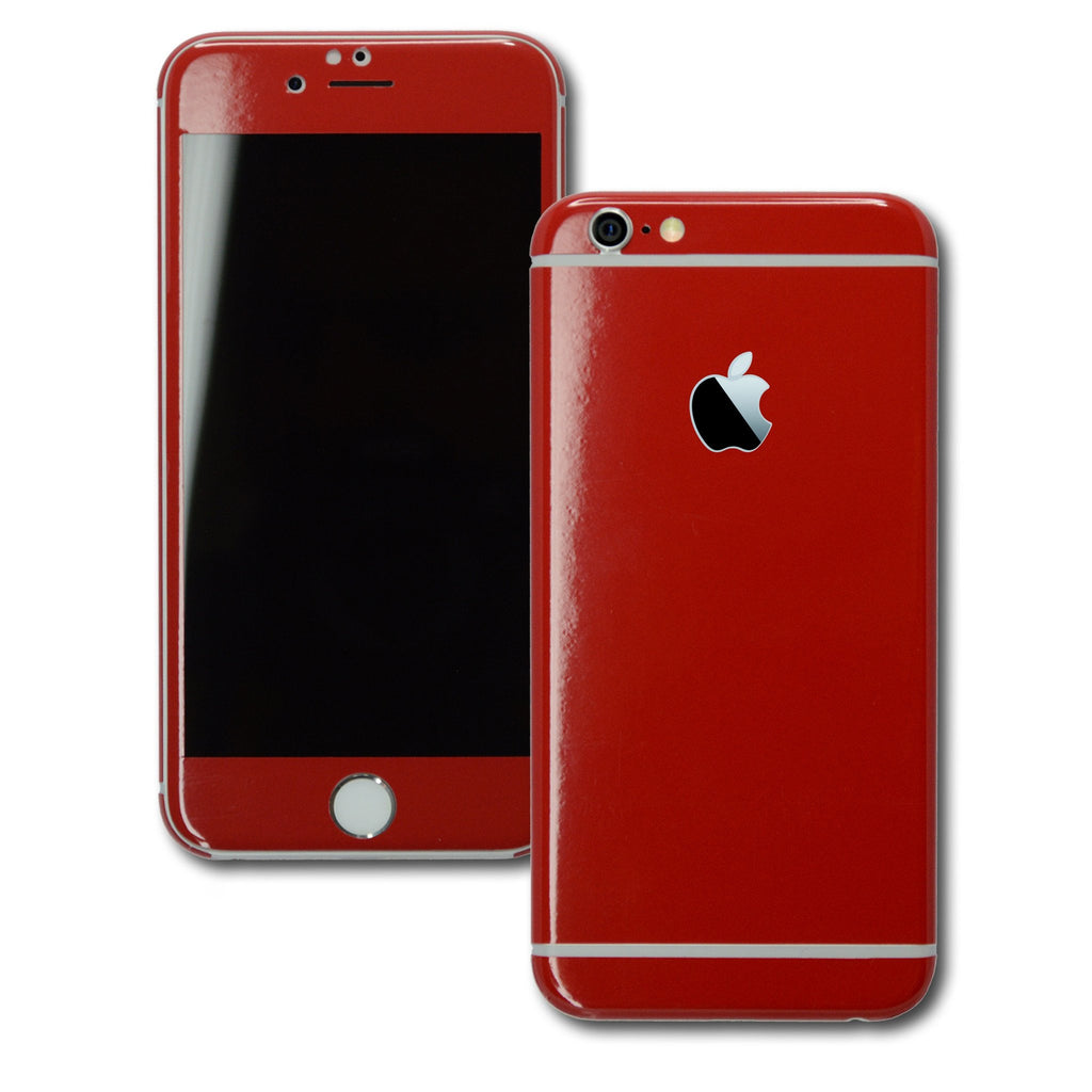 iPhone 6 Plus Colorful GLOSS GLOSSY Deep Red Skin Wrap Sticker Cover Protector Decal by EasySkinz