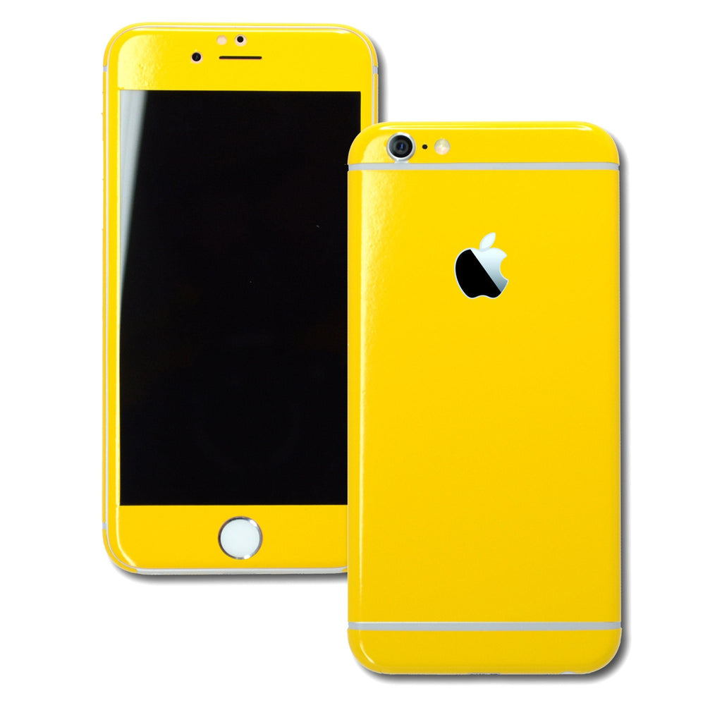 iPhone 6 Plus Colorful GLOSS GLOSSY GOLDEN YELLOW Skin Wrap Sticker Cover Protector Decal by EasySkinz
