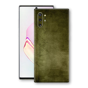 Samsung Galaxy NOTE 10+ PLUS Print Custom Signature Olive Green Canvas Oil Paint Abstract Skin Wrap Decal by EasySkinz