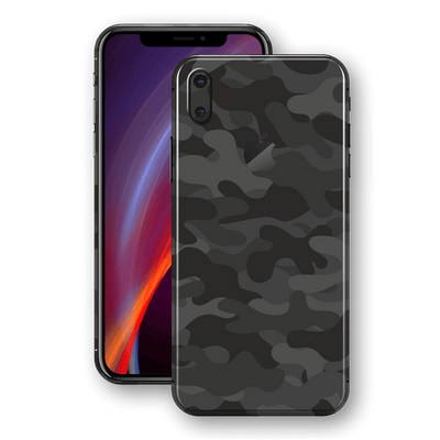 iPhone X Print Custom Signature Dark Slate Camouflage Skin Wrap Decal by EasySkinz
